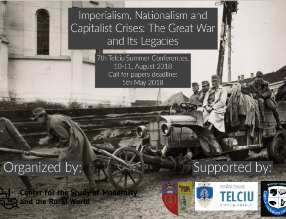 Imperialism, Nationalism and Capitalist Crises: The Great War and Its Legacies – Call for papers