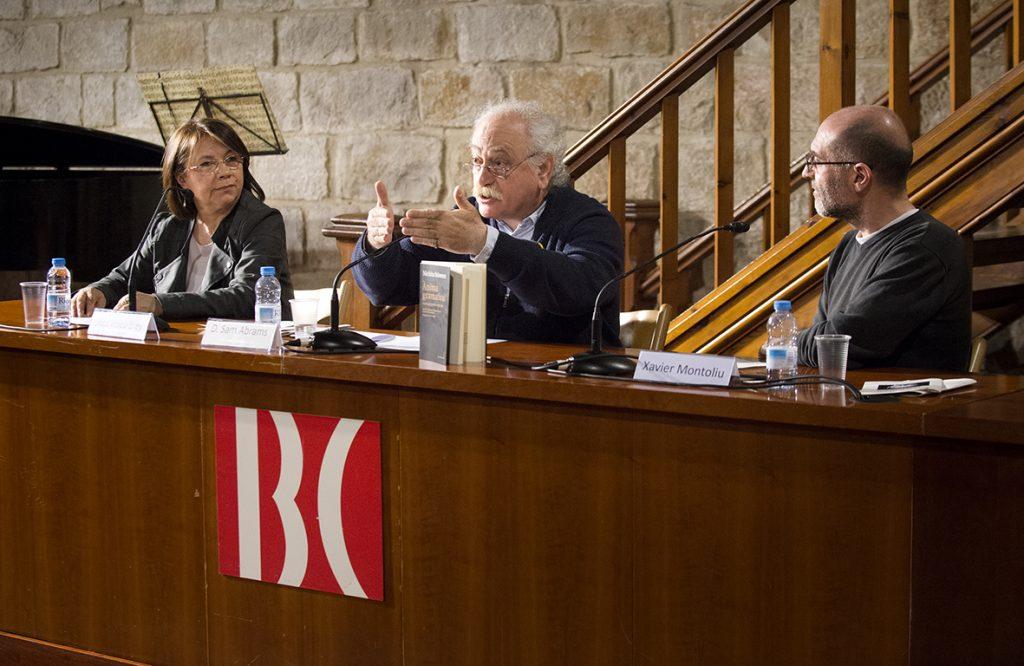 Lilica Voicu-Brey, D. Sam Abrams și Xavier Montoliu Pauli ©Biblioteca de Catalunya – Oriol Miralles