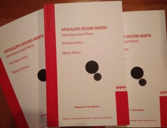 Volumul de poezie al scriitoarei Marta Petreu, Apocalipsa după Marta, a fost tradus recent în limba catalană